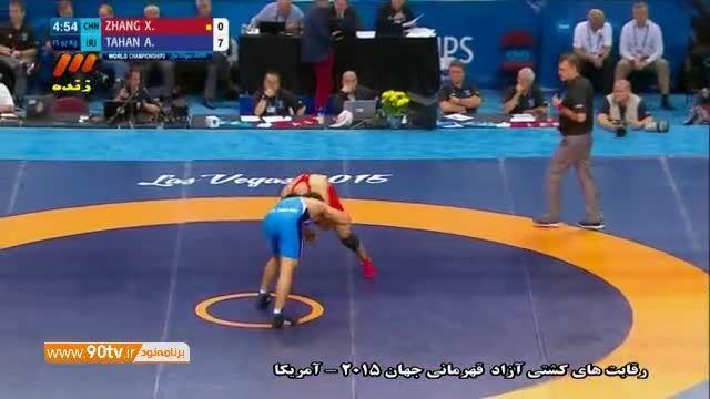 پیروزی قاطع عباس طحان مقابل چین (۹۷ کیلوگرم)