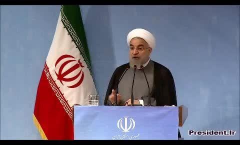 دکتر روحانی:بعضی ها نمیدانستند تحریم یعنی چه !!