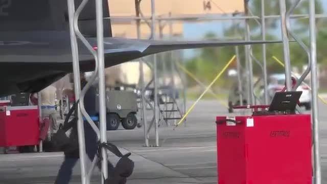 جنگنده های F-22 در خاورمیانه