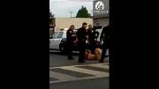 برخوردقاطعانه پلیس آمریکا با اراذل واوباش...!!
