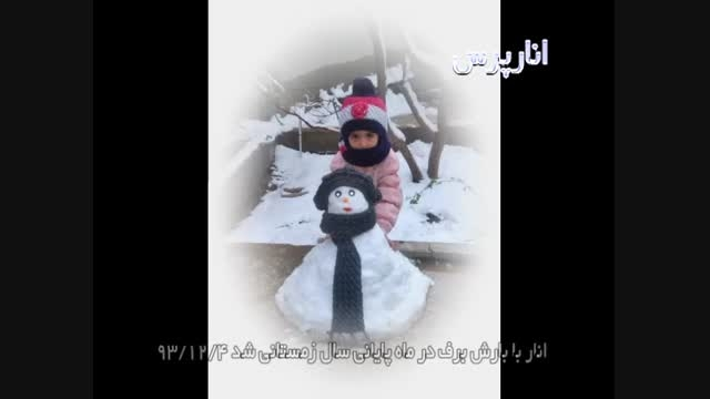 کلیپی از بارش برف در شهرستان انار