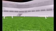 طراحی روشنایی و طرااحی 3d استادیوم بین المللی فوتبال