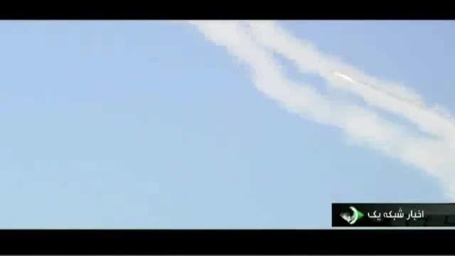 پرتاب همزمان 14 موشک زمین به زمین سپاه پاسداران