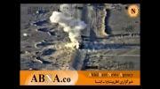 لحظه حمله هلیکوپتر ارتش عراق به کاروان تروریست های داعش