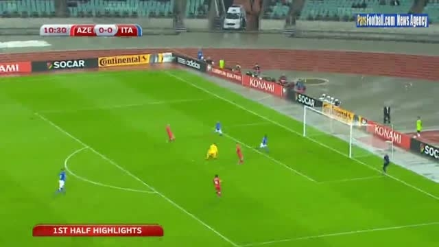 پیروزی آسان ایتالیا مقابل آذربایجان