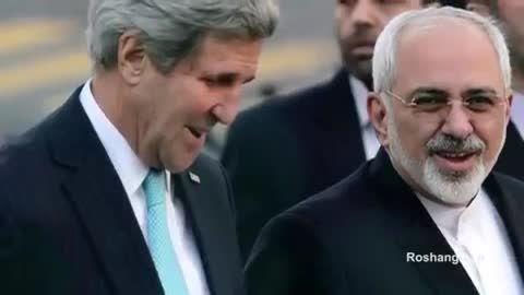 شوخی با دکتر ظریف مذاکره کننده هسته ای(قدم زدن جان کری)