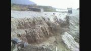 بارش باران و طغیان رودخانه در جبالبارز