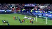 پیروزی اسپانیا مقابل فرانسه با چاشنی شانس