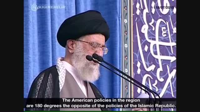 سیاست های ایران و امریکا در منطقه