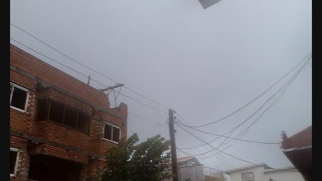 بارش شدید باران در فریدونکنار