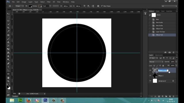 PhotoShop - آموزش طراحی لوگو گرد