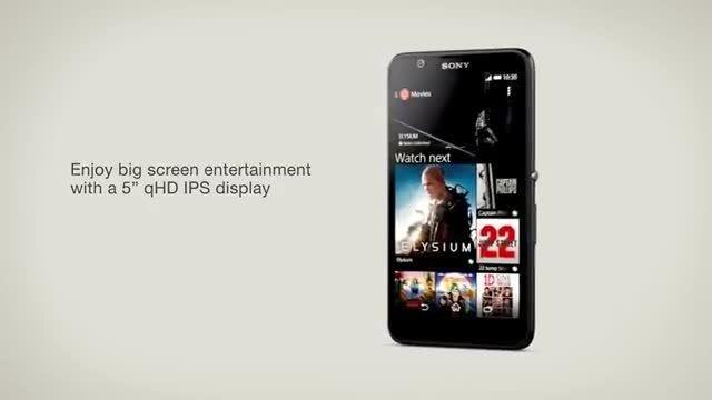 ویدئوی تبلیغاتی سونی برای معرفی اکسپریا E4 (ویدئوی اول)