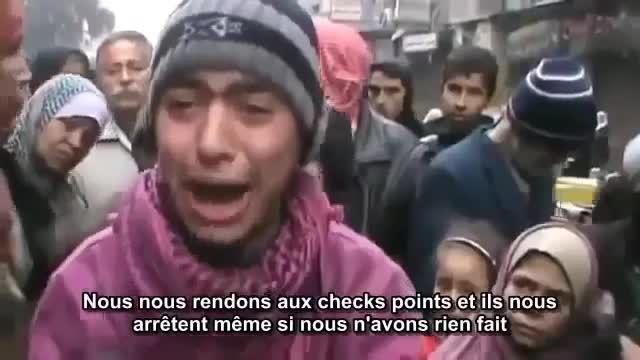 گریه جوان فلسطینی از دست عناصر داعش