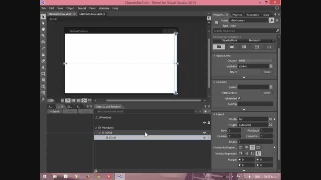 طراحی نوار Charms ویندوز 8 برای اپلیکیشن های دسکتاپ-WPF