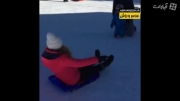سرخوردن شکیرا روی برفها همسر جرارد پیکه