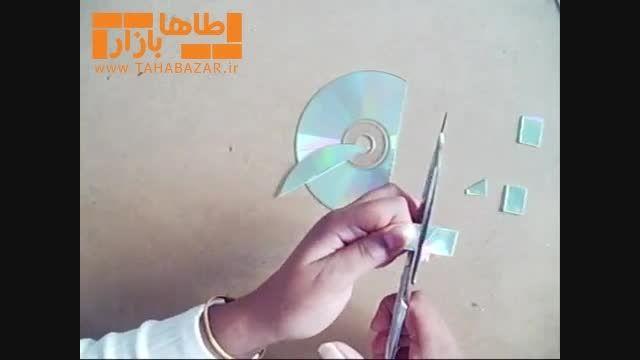 ساخت آویز تزئینی با استفاده از CD