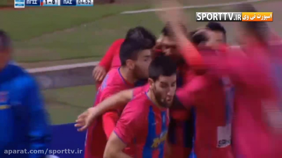 پیروزی پانیونیوس با دو گل کریم انصاری فرد