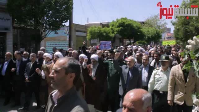 فیلم راهپیمایی مردم شبستر در حمایت از مردم مظلوم یمن