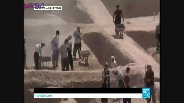 داعش با بولدزر به جان سایت باستانی نمرود افتاد+فیلم