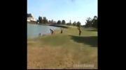 گلف بازی میتواند خطرناک باشد !! (خنده دار)