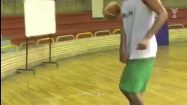 روپایی زدن حامد حدادی با توپ بسکتبال