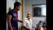علی صارمی و بهنام ابطحی در حال تمرین آهنگ میانی سریال ملکوت