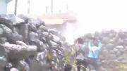سوریه - تروریست در حال گزارش کردن صحنه نبرد تا .....