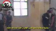 سوریه- آتش مستقیم تانک ارتش سوریه و هلاکت جمع کثیری از تروریستها
