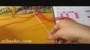 آموزش بافت دستبند دوستی طرح حرف O - درس 21