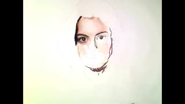 آموزش نقاشی رونالدو اموزش کشیدن چهره 2