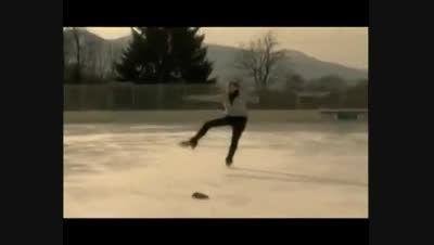 حادثه درتمرین اسکی!