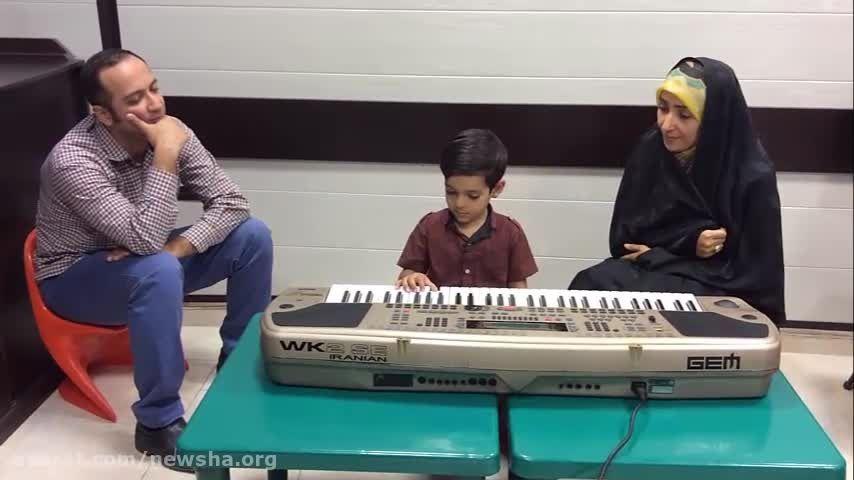 موسیقی درمانی در مرکز نیوشا - امیرعلی