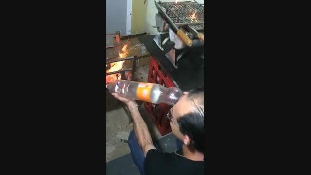 ساخت پمپ باد با بطری پلاستیکی یکبار مصرف