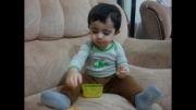 آرتین و خوردن ماکارونی و ابراز احساسات واسه مامان :)