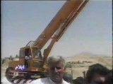 سقوط گریدر به دره در روستای بانویزه - چوار - ایلام