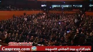 کتک کاری وسط صحبت های احمدی نژاد در ترکیه