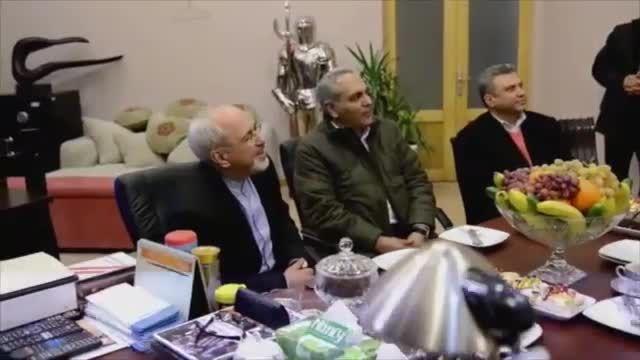 دیدار مهران مدیری با محمد جواد ظریف