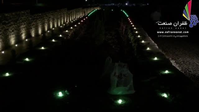نمایش چراغ های هوشمند در اصفهان
