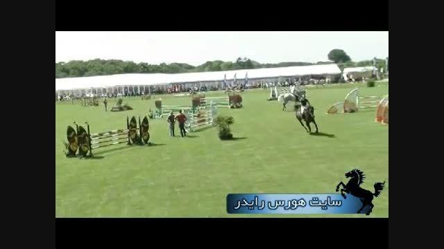 تمرین پرش با اسب قبل از مسابقه