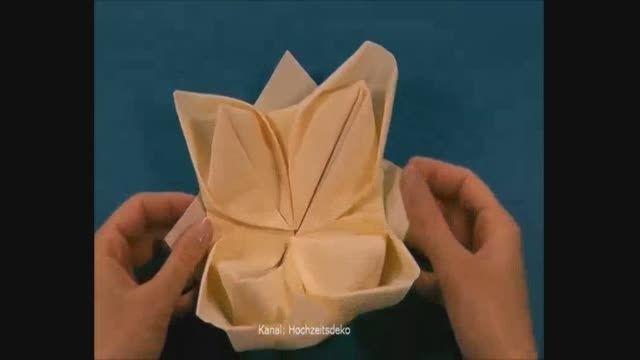 روش های تا زدن دستمال سفره