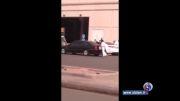 درگیری جوانان با پلیس دینی عربستان برای رهایی یک دختر + فیلم