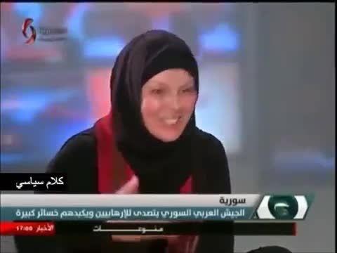 بوسه خبرنگار تونسی بر پوتین سرباز سوری