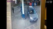 ماجرای مضحک راننده زن در پمپ بنزین