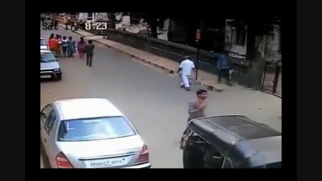تصادف خونین موتوری با مرد