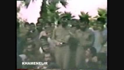 حضور و سخنرانی امام خامنه ای در سال اول جنگ در جبهه