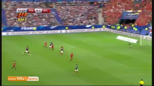 خلاصه بازی: فرانسه ۳-۴ بلژیک