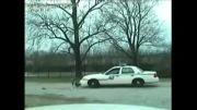 داغون کردن ماشین پلیس توسط سگای ولگرد