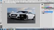 آموزش روشن کردن چراغ های یک ماشین در Photoshop