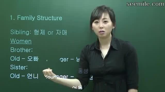 آموزش زبان کره ای (معرفی خانواده؛ پدر بزرگ مادر بزرگ)