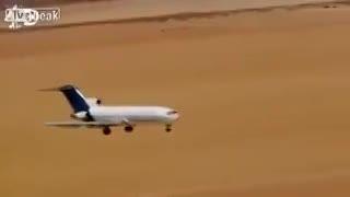 متلاشی شدن هواپیما